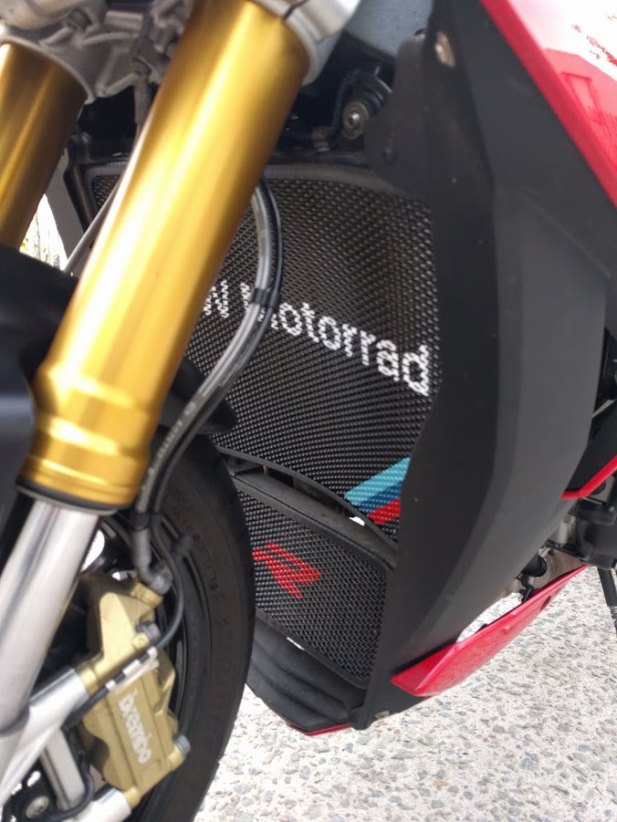 Protection radiateur custom s1000r la s1000rr sans sa - Radiateur froid en bas ...